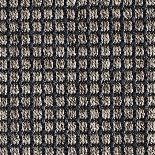 High-Performance All Weather Indoor/Outdoor Custom Rug with UV Resistant Standard Edge Finish- De Janeiro Charcoal