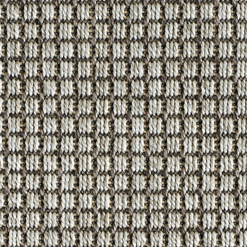 High-Performance All Weather Indoor/Outdoor Custom Rug with UV Resistant Standard Edge Finish- De Janeiro Sea Grey