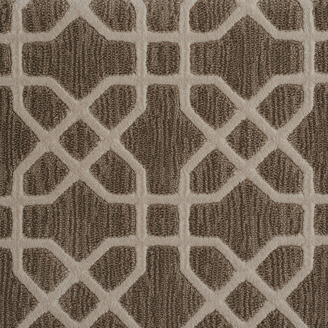 Equinox Woven Custom Rug - Brown/Taupe Cocoa