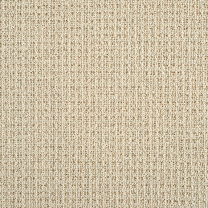 King Canyon Woven Wool Custom Rug - Cream Barley