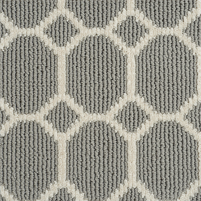 Legend Geo Tufted Custom Rug - Gray Pearls