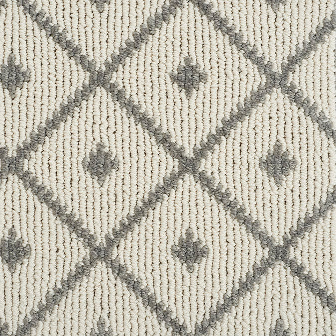 Legend Maze Tufted Custom Rug - Antique Silver