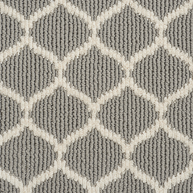 Legend Ogee Tufted Custom Rug - Gray Pearls