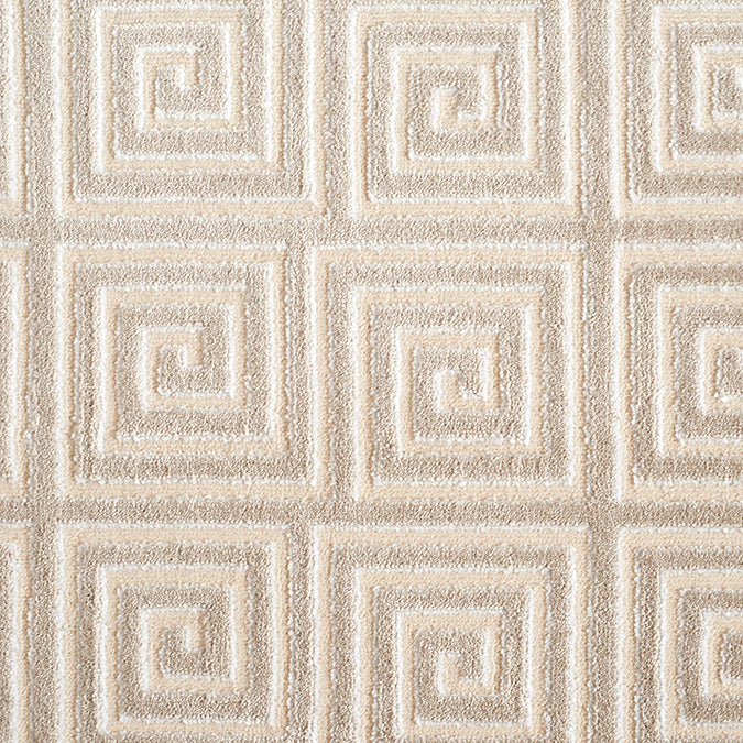 Mozart Woven Custom Rug - Cream/Taupe Alabaster