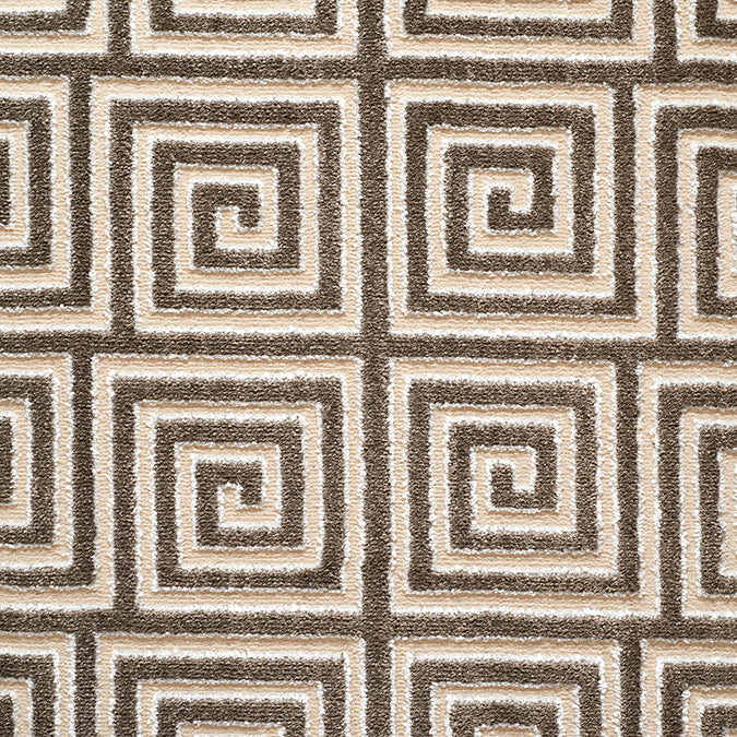 Mozart Woven Custom Rug  - Cream/Brown Latte