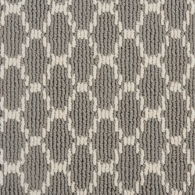 Pioneer Interlock Tufted Custom Rug -Gray Pearls