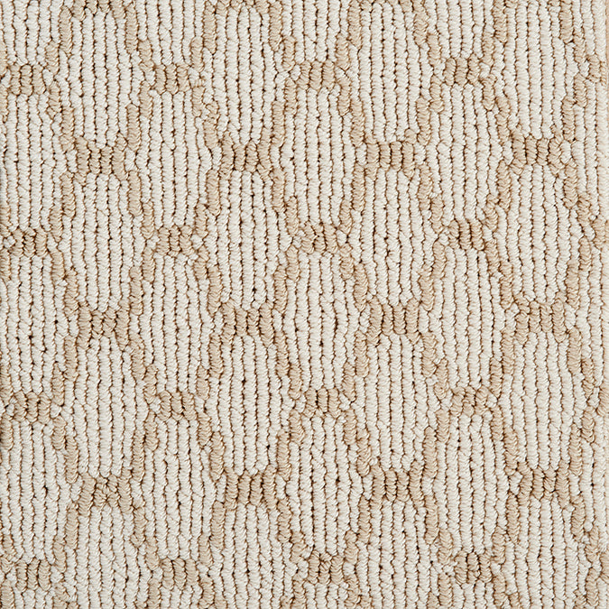 Pioneer Interlock Tufted Custom Rug - Sandstone