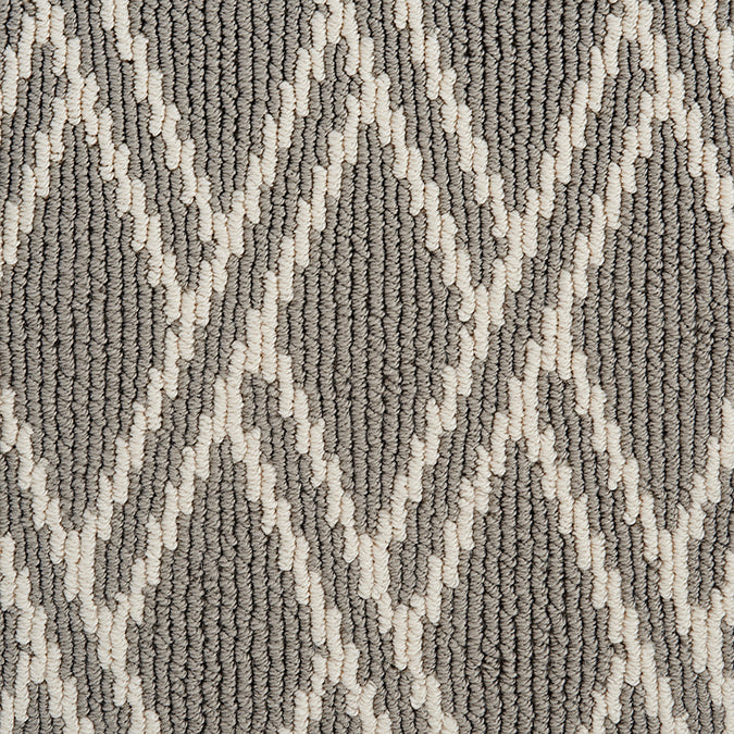 Pioneer Latticework Tufted Custom Rug - Grey Pearl
