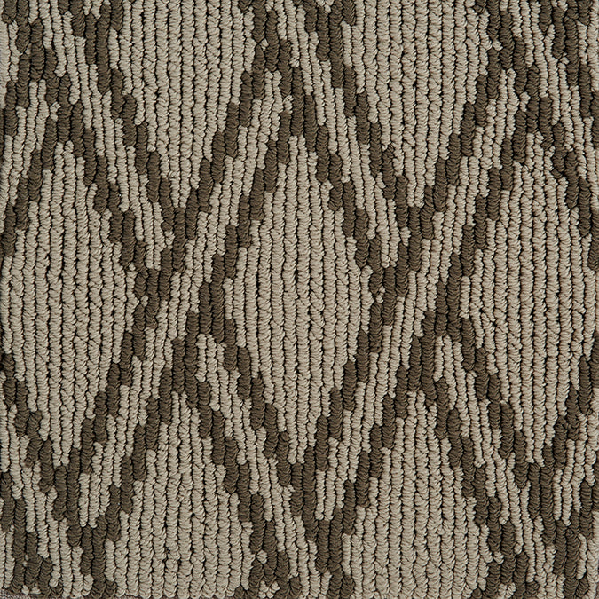 Pioneer Latticework Tufted Custom Rug - Latte