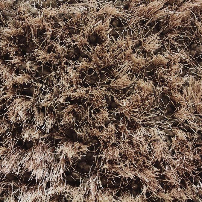 Shaggy Stratus Woven Custom Shag Rug-  Tan/Brown Army