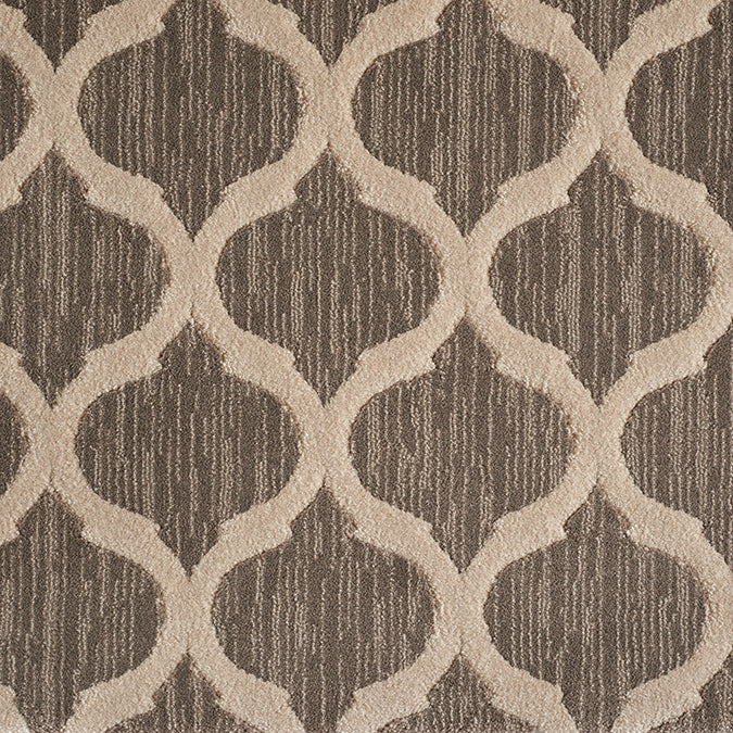 Sigma Woven Custom Rug - Brown/Beige Pebble
