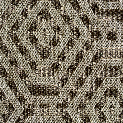 High-Performance All-Weather Indoor/Outdoor Custom Rug with UV Resistant Standard Edge Finish - Tulum Seagrey
