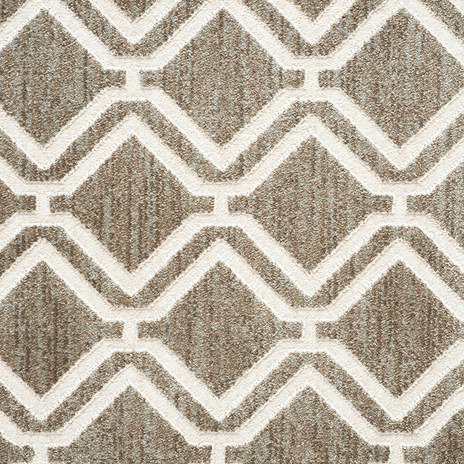 York Woven Custom Rug - Tan/Cream Buff
