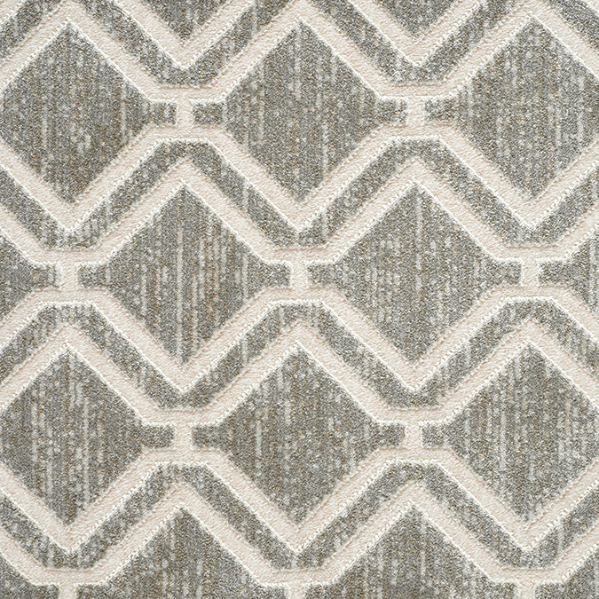 York Woven Custom Rug - Taupe/Cream Mist