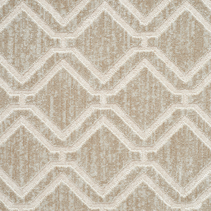 York Woven Custom Rug - Beige/Cream Opal