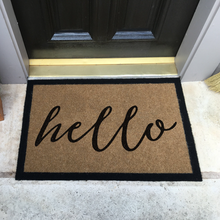 Infinity Custom Mats™ All-Weather Door Mat - STYLE: HELLO COLOR: TAN