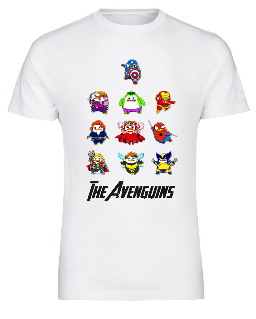 223ddc15f ... Marvel Comic Inspired Avengers Penguin Avenguins T-Shirt - FireFish  Design ...