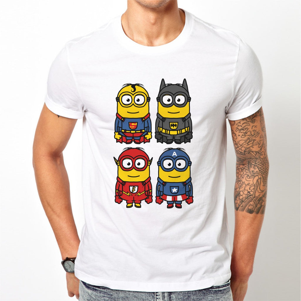 fc3d289cf Minion Dress-Up Comic Superhero T-Shirt - FireFish Design