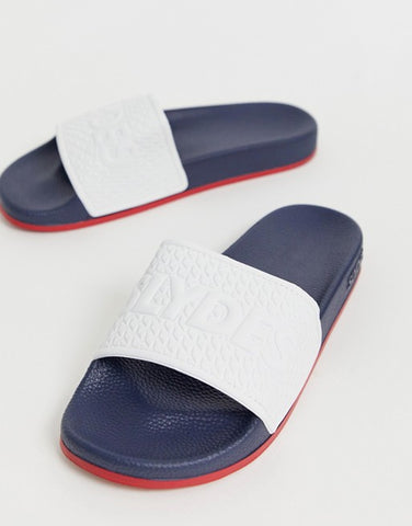 Color Block Slide In White