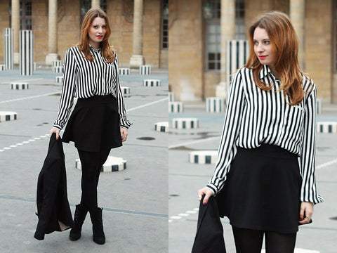 Black & White Striped Shirt