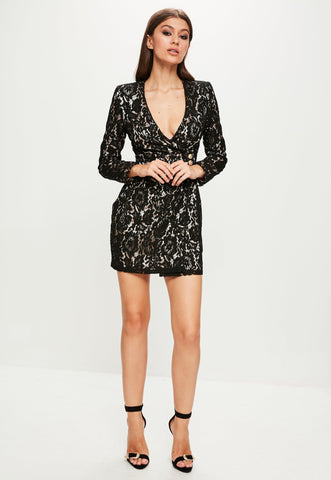 Lace Blazer Dress