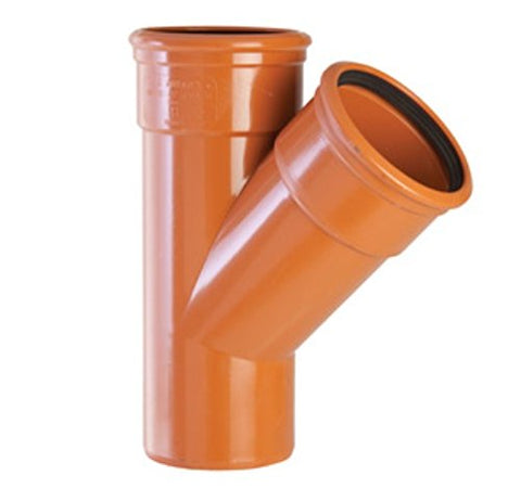 110mm Underground Drainage 45 Degree Double Socket Junction