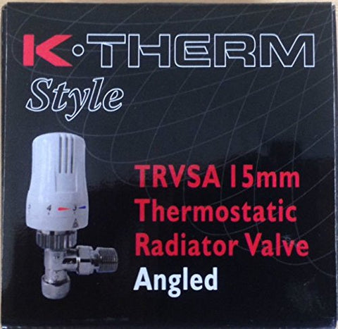 Ktherm 5060168224101 15 mm Thermostatic Radiator Valve and 10 mm Reversible TRV - Multi-Colour