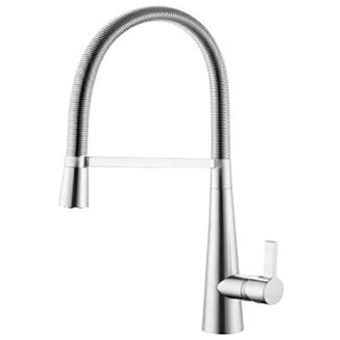 Modern Pull out kitchen sink mixer Taps L76 - Chrome Finish