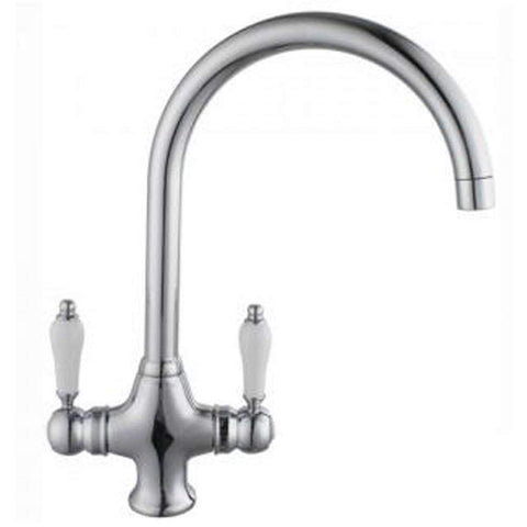 Modern Traditional kitchen mixer Taps W76 - Chrome Finish