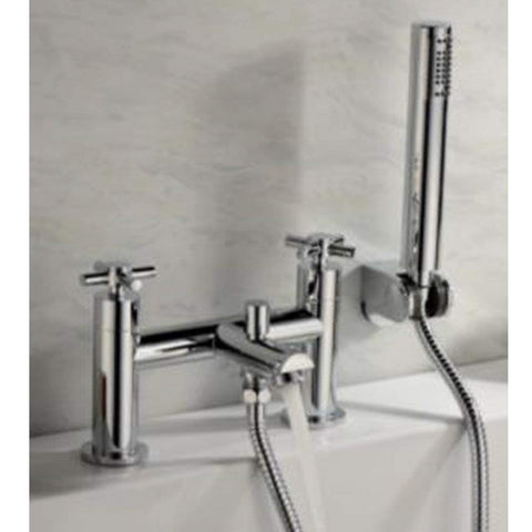 Modern Bath Shower Brass Mixer with Shower Kit I04 - Chrome Finish