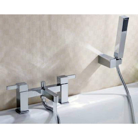 Modern Bath Shower Brass Mixer with Shower Kits AE04 - Chrome Finish