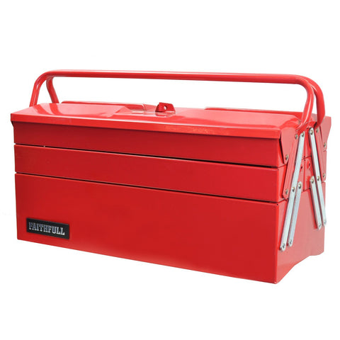 Faithfull TBC517 Metal Cantilever Tool Box 17-inch (5 Tray)