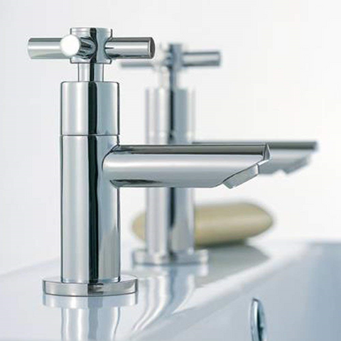 Modern Basin Brass Taps I02 - Chrome Finish