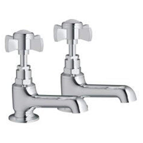 Modern Basin Brass Taps KC02 - Chrome Finish