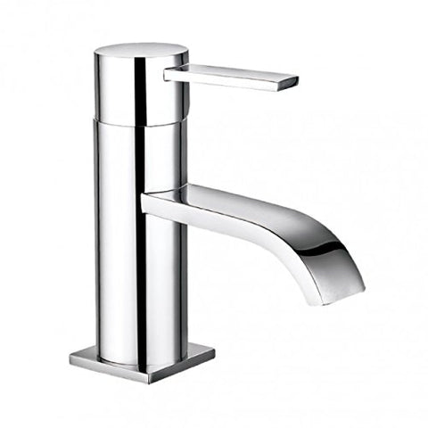Modern Mono Basin Brass Mixer with Sprung Waste N05 - Chrome Finish