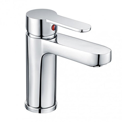 Modern Mono Basin Mixer Brass Tap with Sprung Waste SG05 - Chrome Finish