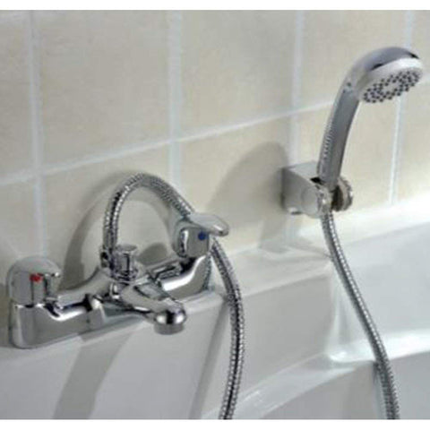 Modern Bath Shower Brass Mixer with Shower Kit T04 - Chrome Finish