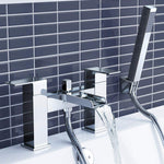iBathUK Modern Waterfall Bath Filler Mixer Tap with Bathroom Hand Held Shower Head TB3109