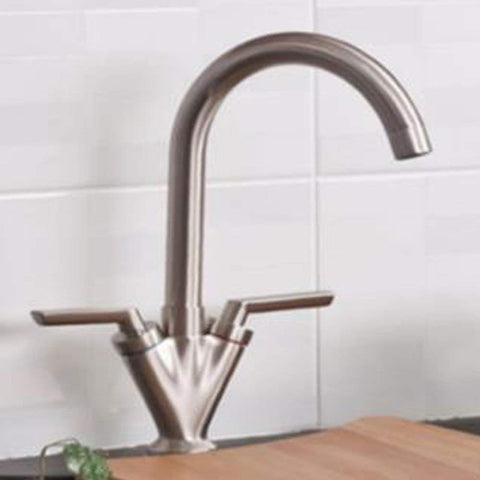 Modern Kitchen sink mixer Brass Taps TB77 - Brushed nickel Finish