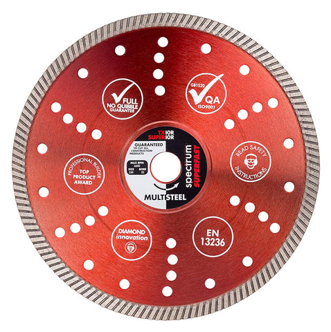 "X TX10R-230/22 Spectrum Superior Turbo Dia Multi-Steel Blade, Red,"" 230/22.23 mm"
