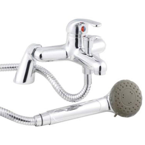 Modern Bath Shower Brass Mixer with Shower Kits V04 - Chrome Finish