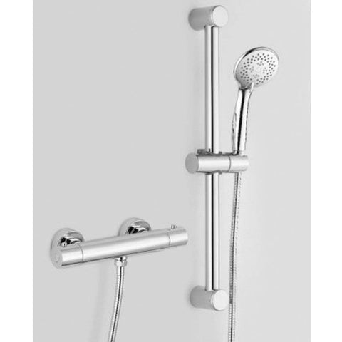 Modern Thermostatic shower mixer with slide rail kit SHOWERS VM31B - Chrome Finish