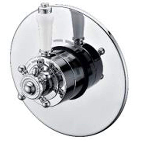 Modern Concealed Concentric Thermostatic Brass Shower Valve W80 - Chrome Finish