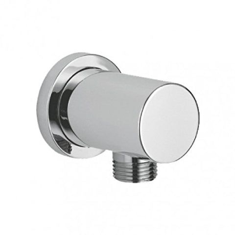 Modern Round Wall Outlet Brass Elbow WE01 - Chrome Finish