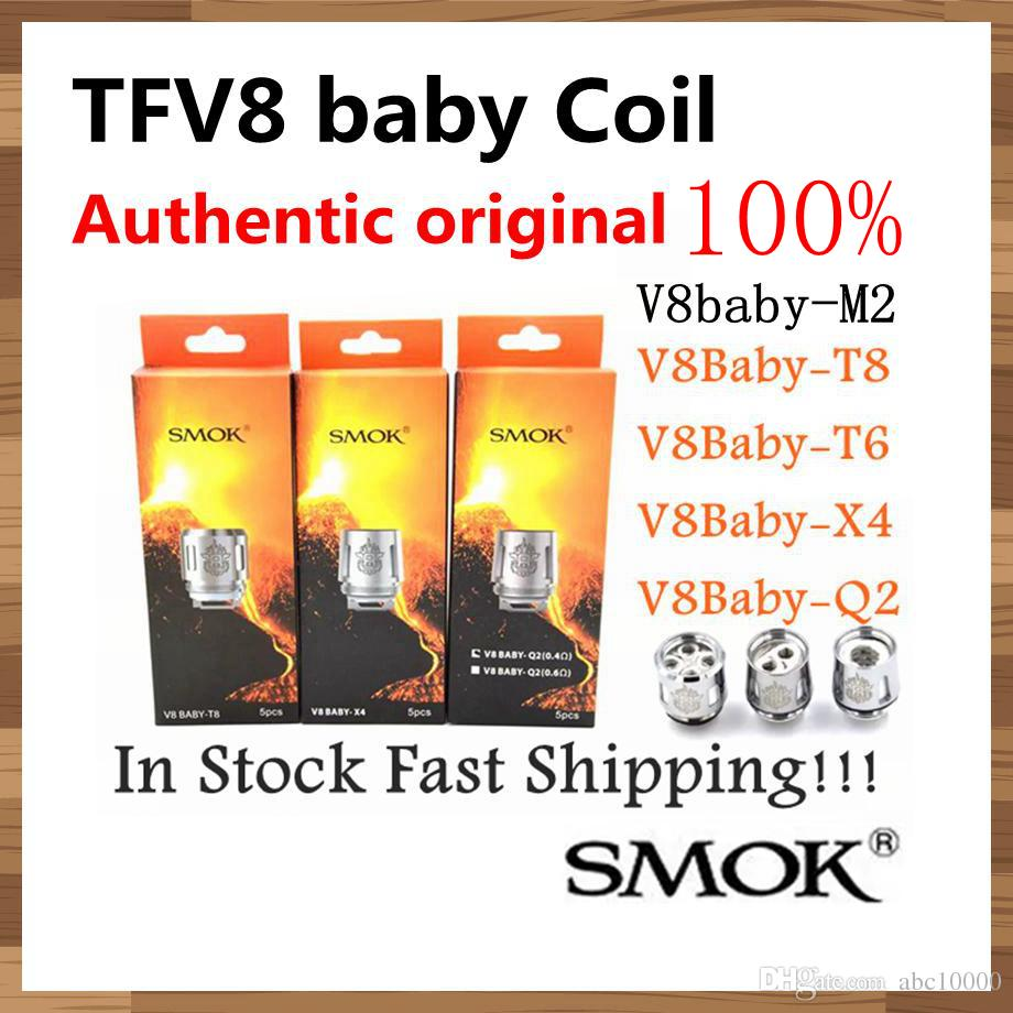 100% Authentic Original Smok TFV8 BABY Beast Tank Coils Head V8 Baby T8 T6 X4 M2 Q2 0.4ohm Core Atomizer coil ePacket