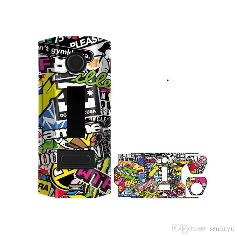 High quality anti scratch anti collision electronic cigarette stickers vape suit for 200w e