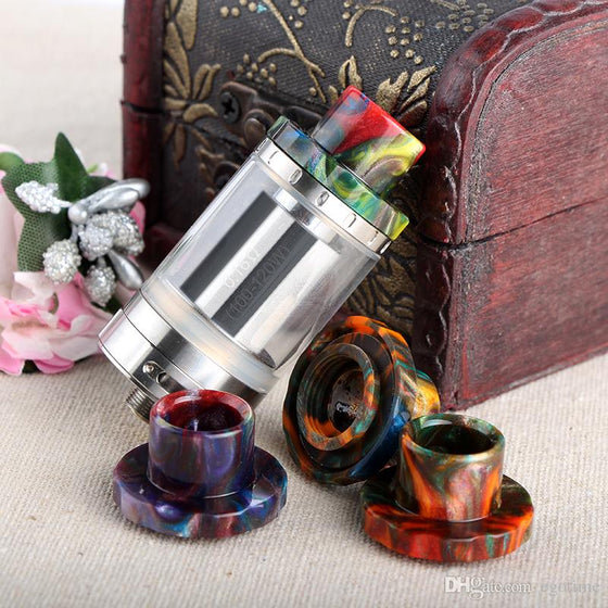 In Stock Epoxy Resin Drip Tips For Cleito 120 Atomizer Tank Best Cleito 120 Mouthpiece Colorful High quality Electronic Cigarette