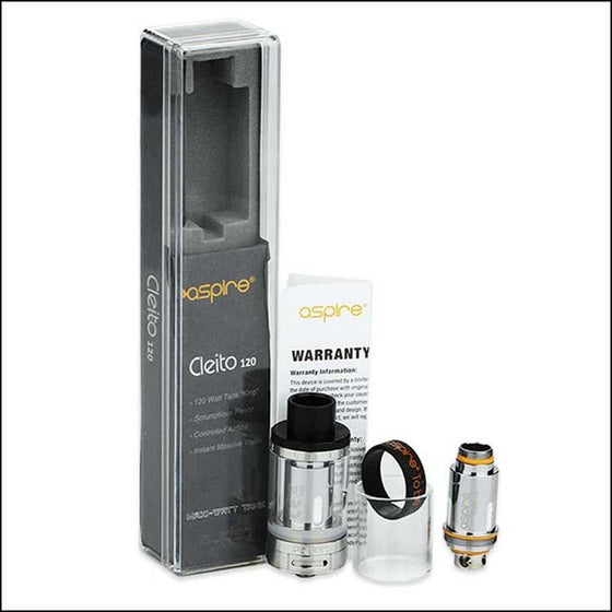 Original Aspire Cleito 120 Tank with 4ml Capacity Top Filling Atomizer is Optimized for High-powered Vaping