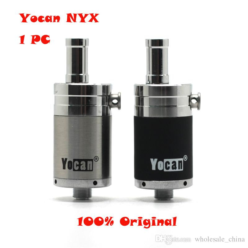 Yocan NYX Atomizers Wax Tank Vaporizer With Quartz Dual Coil Fit 510 Thread 15W-25W Box Mod Yocan Evolve Plus