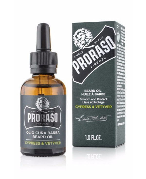 Proraso Beard Care / Beard Wash & Beard Oil - Cypress & Vetyver